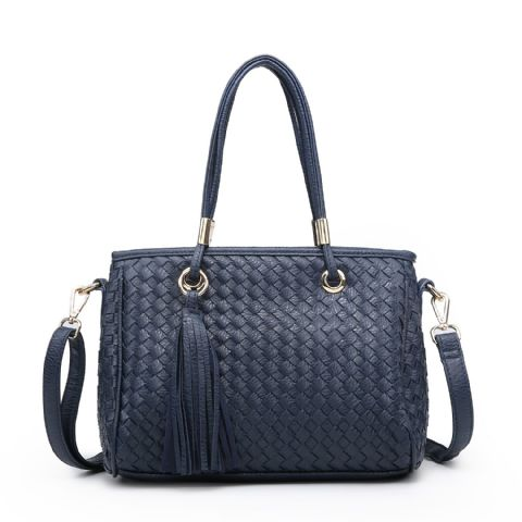 CROSS HATCH SHOULDER BAG NAVY